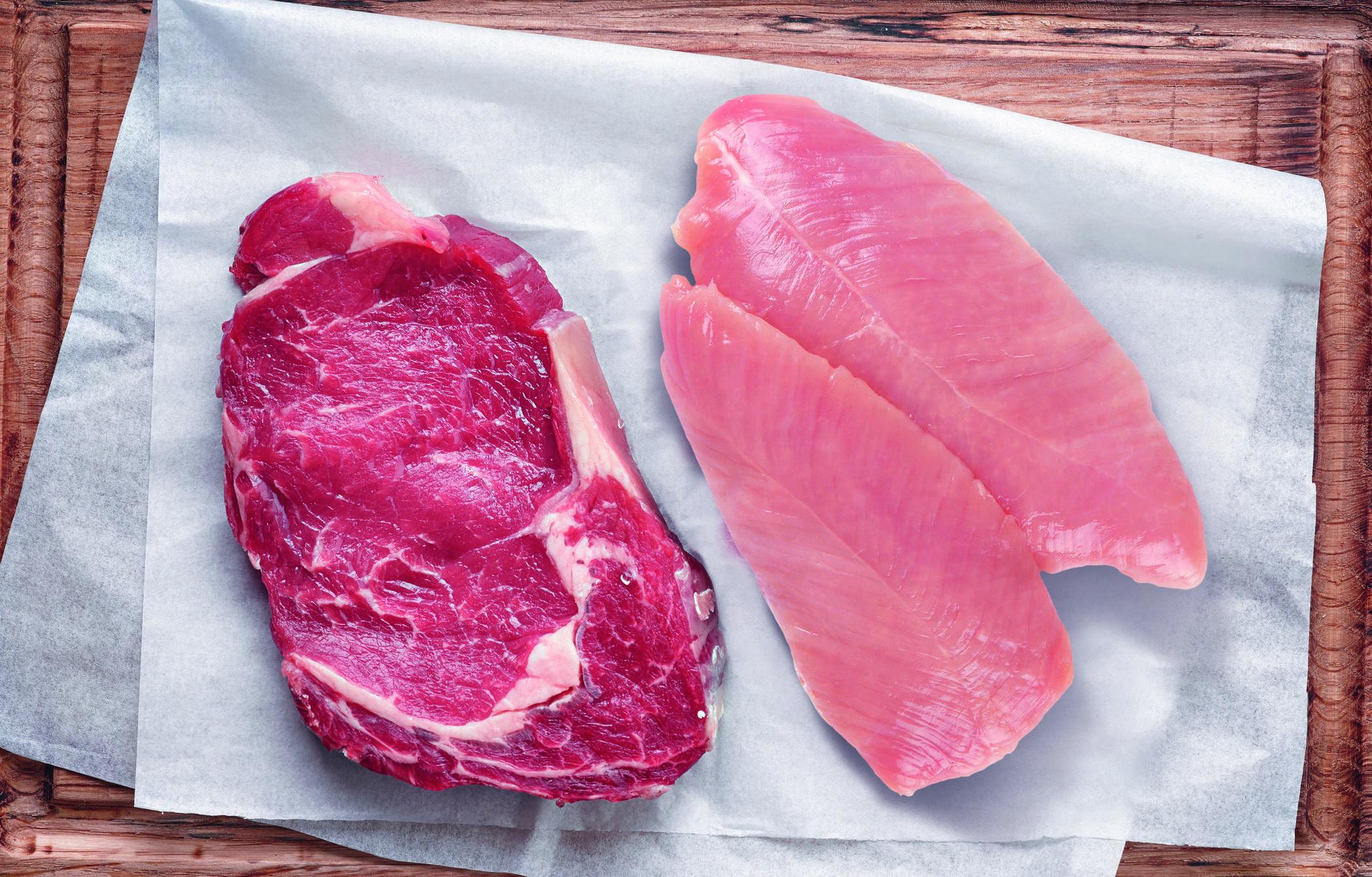 Het juiste portie vlees