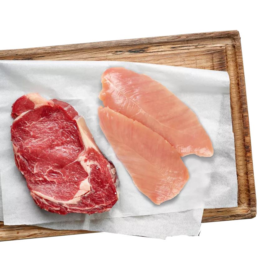 Juiste portie vlees